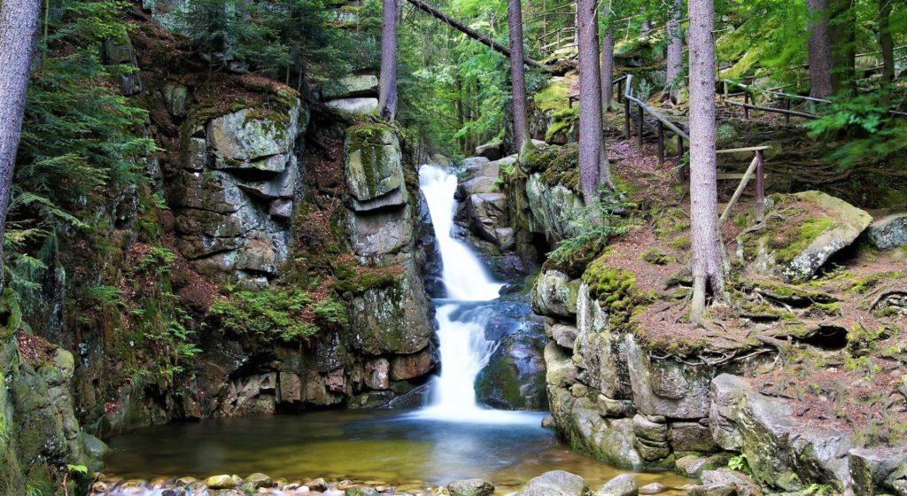 Wodospad Podgórnej, Karkonosze, Podgórzyn, Przesieka